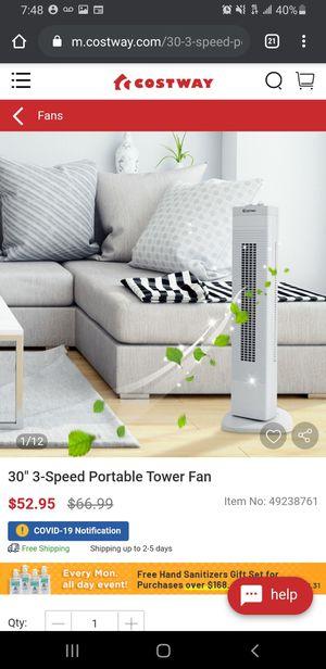 "🥶🥶New 30"" 3-Speed Portable Tower Fan🥶🥶 for Sale in Riverside, CA"