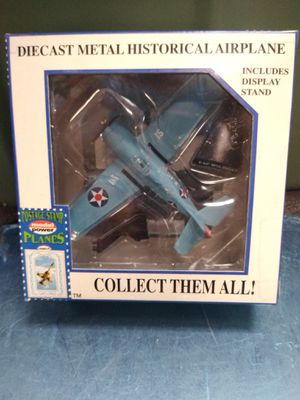 Diecast metal historical airplane F4F Wildcat includes display stand for Sale for sale  Philadelphia, PA