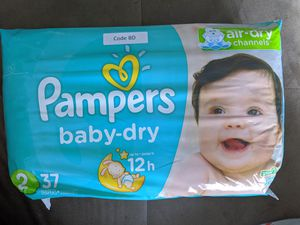 Pampers Baby-dry size 2. 37 count for Sale in Boston, MA