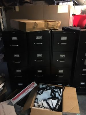 Various pieces of office cabinets, desks, chairs, etc. Willing to let everything go dirt cheap. for Sale in Baltimore, MD
