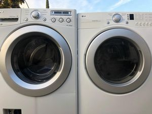 Lg washer and electric dryer in good condition for Sale in Ceres, CA