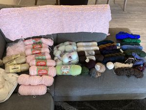 Nice collection of yarn for Sale in Canton, OH