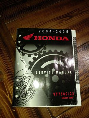 2005 Honda Shadow Aero Motorcycle Service Manual VT750C for Sale in Hesperia, CA