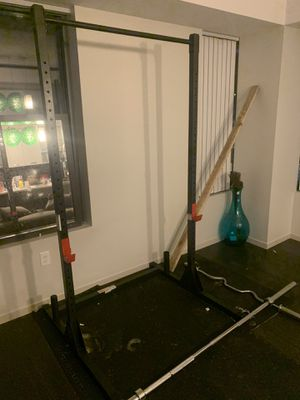 Squat rack and barbell for Sale in Cambridge, MA