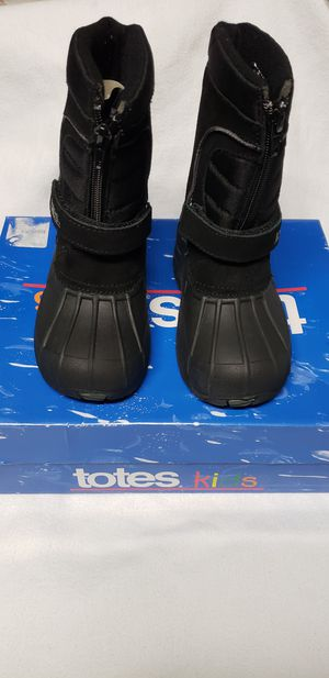 Black Tote Rain/Snow boots size 10c kids for Sale in Renton, WA