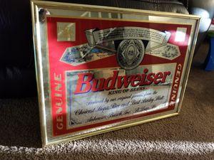"18""x25"" budweiser mirror for Sale in Coronado, CA"