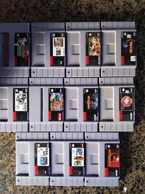 Super Nintendo NES Games trade for Super Mario Kart for Sale in Clovis, CA