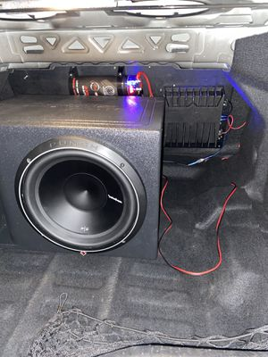 """Subwoofer system fosgate amp and 12"""" subwoofer P2 fosgate 800watts wiring included fresh roll of wires not from car ask for details 300$ for Sale in Rialto, CA"""