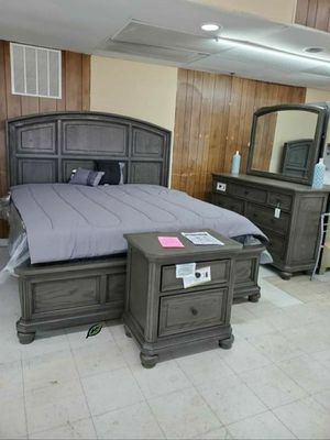 👉$39 Down Payment 👈👍 Lavonia Gray Storage Platform Bedroom Set for Sale in Jessup, MD