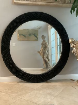 """Z Gallery 55"""" black mirror with beautiful design.this mirror is huge and will reflect lots of light and give your home stylish new look for Sale in Laguna Niguel, CA"""