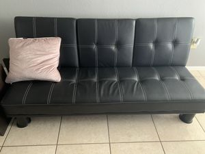 Leather futon for Sale in West Palm Beach, FL
