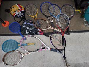 Huge lot tennis rackets for Sale in Oak Lawn, IL