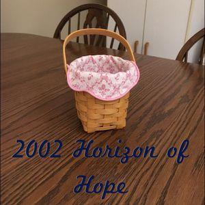 Longaberger 2002 Horizon of Hope basket for Sale in Elyria, OH