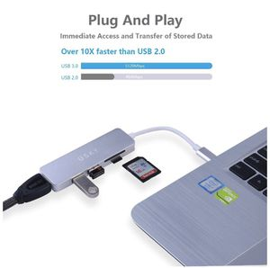 USB C Hub, USB Type-C Multiport Hub with HDMI Port,2 USB 3.0 Ports,SD/TF Card Reader,USKY USB-C to HDMI Adapter for MacBook Pro 2016/2017 and More Ty for Sale in Monterey Park, CA