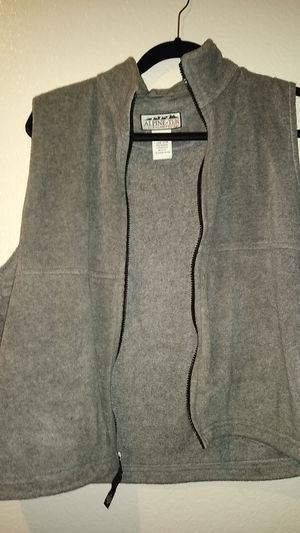 Gray fleece-like zip vest size L for Sale in Phoenix, AZ