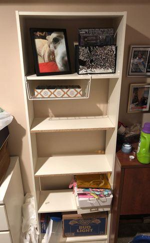 5 shelf white bookcase for Sale in Marietta, GA