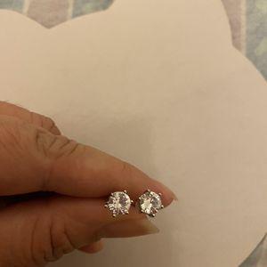 Silver Zircon Diamond Small Stud Earrings for Sale in Nuevo, CA