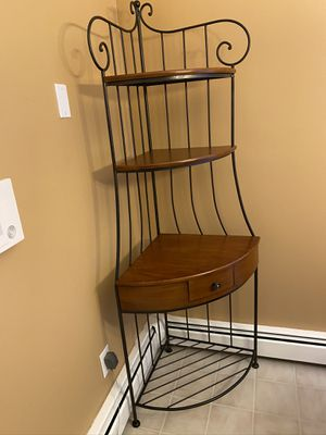 Cherry and Wrought iron Bakers Rack for Sale in Briarcliff Manor, NY