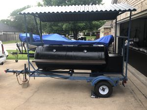 Smoker Pitt Grill BBQ trailer with roof for Sale in Austin, TX