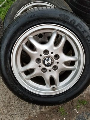 Set of 4used tires and wheels 5lugs size 16 fit bmw series 3 for Sale in Nashville, TN
