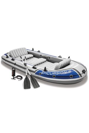 Intex Excursion 5, 5-Person Inflatable Boat Set with Oars & Air Pump for Sale in Fort Lauderdale, FL