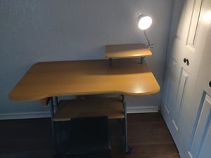 Student desk/ with storage seat / lamp for Sale in Plantation, FL