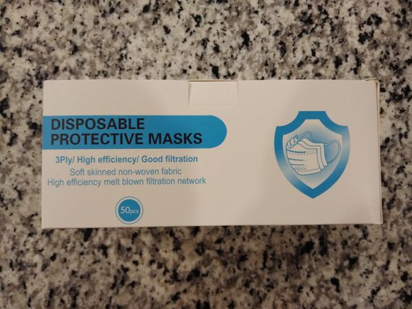 NEW Disposable Protective Face Masks