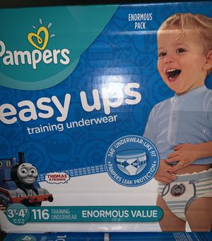 Pampers Easy Ups training Underwear Boys Thomas the Train Design 3T -4T Enormous Pack for Sale in Mt. Juliet, TN