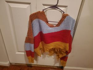 Colorful off the shoulder sweater for Sale in Romeoville, IL