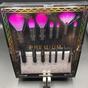 Premium Professional Cosmetic Makeup Brush Set 8 pc Purple Brushes w/ Case NEW! for Sale in Los Angeles, CA