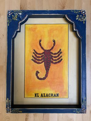 Mexican Loteria Folk Art Painting for Sale in Portland, OR