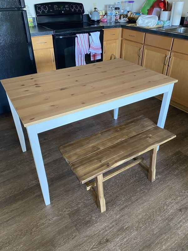 IKEA table and bench for sale