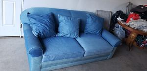 Two full size denim couches for Sale in Belgrade, MT