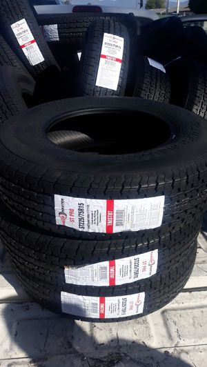 trailers tires st225 75r15 4pcs new$260 for Sale in Los Angeles, CA