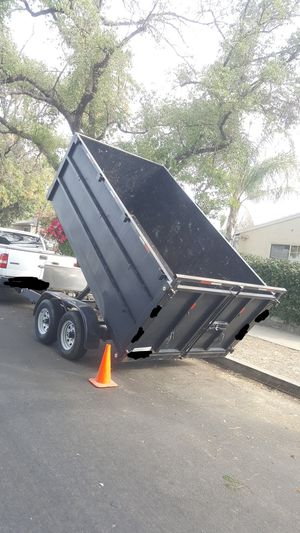 2019 HEAVY DUTY DUMP TRAILER LIFT BOX EVERYTHING WORKS GREAT,NEW TIRES,2 AXLE 6000 EACH IF SOMEBODY INTERESTED PLEASE TEXT ME ANY TIME, THANKS. for Sale in Los Angeles, CA