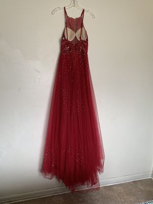 Prom dress (Burgundy) size 2 for Sale in Millville, NJ