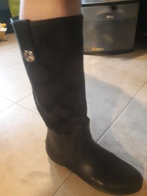 Authentic Coach rainboots size 7.5 for Sale in Lynnwood, WA