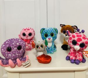 Ty Beanie Boos Plushies, Set of 6 for Sale in Hialeah, FL