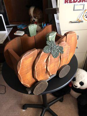 Pumpkin wooden wagon for Sale in Roanoke, VA