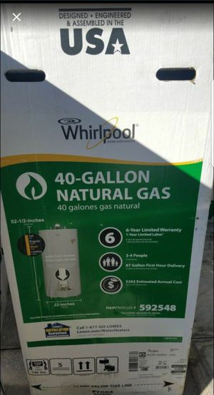 40 gallon gas water heater brand new for Sale in Sebring, FL