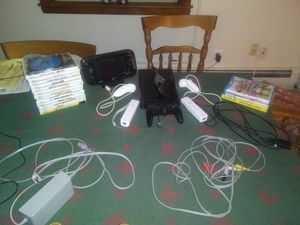 Nintendo Wii U , 3 Wii U Games, 14 Wii Games and Other Accessories for Sale in Medford, MA
