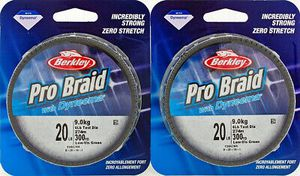 2 Berkley Pro 20 pound Braid 300 Yds for baitcaster baitcast or spinning reels fishing line for Sale in Litchfield Park, AZ