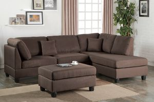 Chocolate sofa sectional couch for Sale in Downey, CA