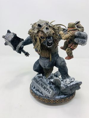 Lord of the Rings War in the North Snow Troll with Dwarf Statue for Sale in Temple City, CA