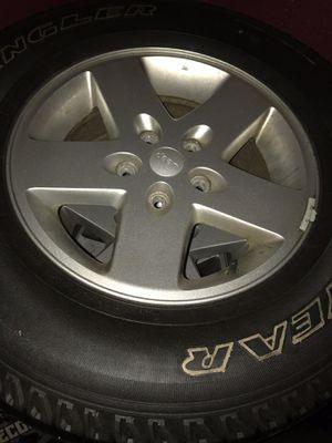 """Jeep Wrangler wheels (5) 17"""" for Sale in Providence, RI"""