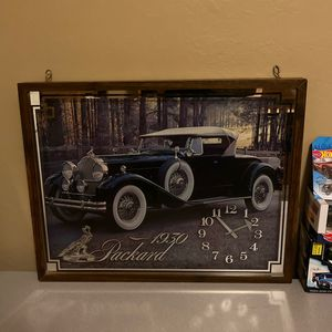 Packard Handing Glass Picture Wood Framed Clock-old for Sale in Queen Creek, AZ