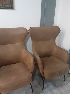 Brown suede accent chairs for Sale in Skykomish, WA