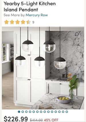 Wayfair 5 pendant chrome kitchen light fixture - BRAND NEW for Sale in Safety Harbor, FL