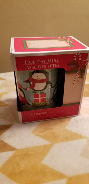 New Holiday Christmas Mug Penguins 12 fl ounces for Sale in Milton, PA