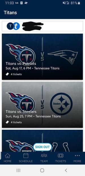 Tennessee titans tickets for Sale in Murfreesboro, TN